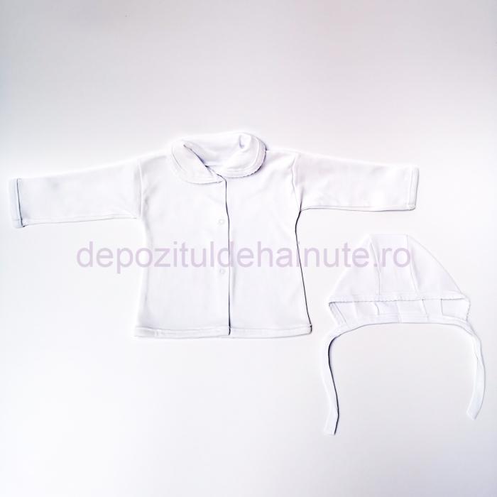 Costumas 3 piese alb manseta  Costumas 3 piese alb manseta
