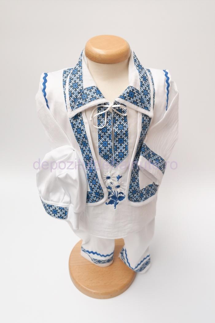Costum national baiat vesta EWE blue  Costum national baiat vesta EWE blue
